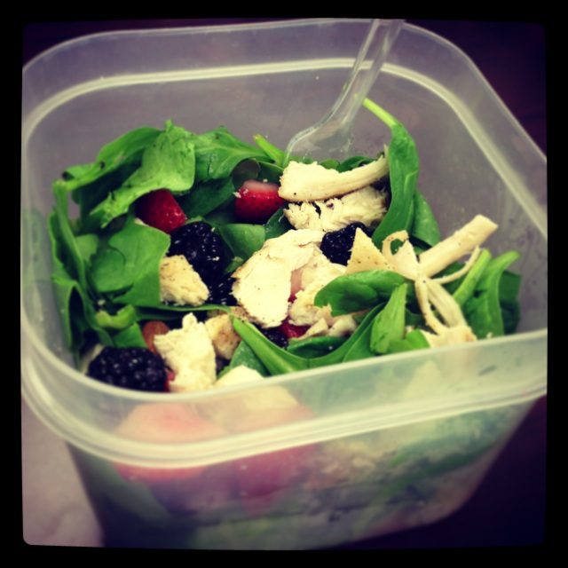 Almond Berry Chicken Salad at Work