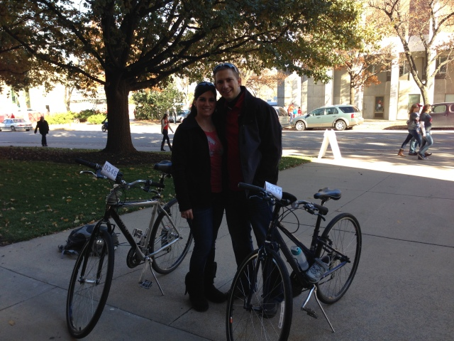 Thanks to UNL Campus Rec for the bike valet we were able to bike to the football game.