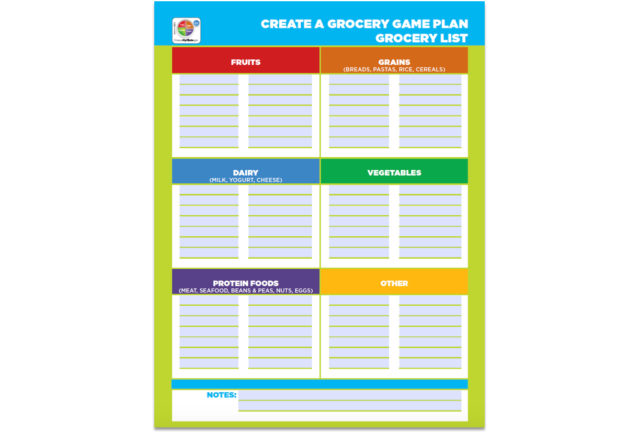 Create a Grocery Game Plan Grocery List