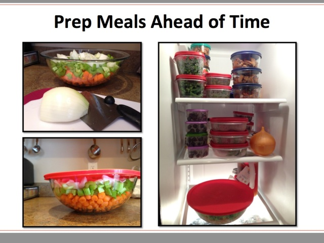 Prep Meals Ahead of Time