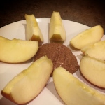 Sliced Apples with Almond Butter